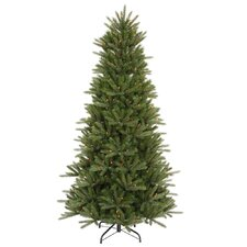 Vermont Instant Shape 7.5' Green Artificial Christmas Tree with 700 Multicolored Dura-Lit Mini Lights with Stand