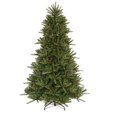 <strong>Vickerman Co.</strong> Vermont Instant Shape 7.5' Green Artificial Christmas Tree with 800 Multicolored Dura-Lit Mini Lights with Stand