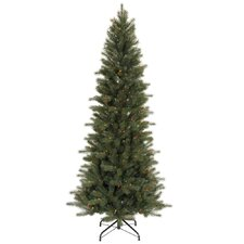 <strong>Vickerman Co.</strong> Blue Spruce Instant Shape 7.5' Green Artificial Christmas Tree with 450 Multicolored Dura-Lit Mini Lights with Stand
