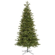 Maine Balsam Fir 8.5' Green Artificial Christmas Tree with 700 Multicolored Dura-Lit Mini Lights with Stand