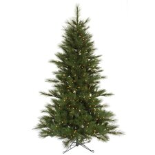 Scotch Pine 7.5' Green Artificial Christmas Tree with 450 Clear Dura-Lit Mini Lights