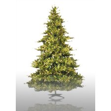 Country Pine 6.5' Green Pine Artificial Christmas Tree with 500 Pre-Lit Clear Lights with Stand