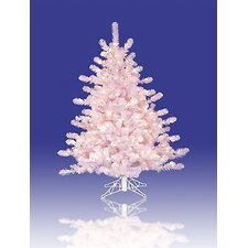 3' Prelit Crystal Artificial Christmas Tree with Clear Lights