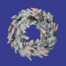 "<strong>Vickerman Co.</strong> 30"" Prelit Flocked Alaskan Wreath"