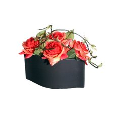 Floral Artificial Potted Roses in Red