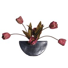 Floral Artificial Potted Double Dutch Tulips in Pink