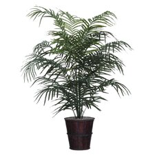 Deluxe 5' Artificial Potted Dwarf Palm Tree in Green