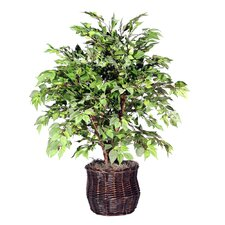 "Deluxe 48"" Artificial Potted Natural American Elm Tree in Green"