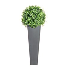 Floral Sphere Desk Top Plant in Decorative Vase