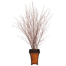 Natural Wood Winter Birch Tree in Decorative Vase