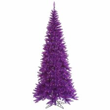 7.5' Purple Slim Fir Artificial Christmas Tree with 500 Mini Lights