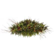 Cedar Twig Pine Cone Swag