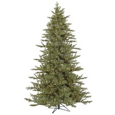 <strong>Vickerman Co.</strong> Baldwin 7.5' Green Spruce Artificial Christmas Tree with 700 LED White Lights with Stand