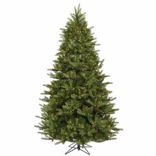 Majestic 7' Green Frasier Artificial Christmas Tree with 950 Dura-Lit Clear Lights with Stand