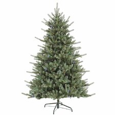 Colorado 7.5' Green Spruce Artificial Christmas Tree with 720 LED Multi-color Lights with Stand