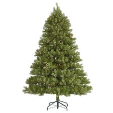 Belvedere 7.5' Green Spruce Artificial Christmas Tree with 700 Dura-Lit Clear Lights with Stand