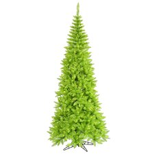 6.5' Lime Slim Fir Artificial Christmas Tree with 400 Mini Lights