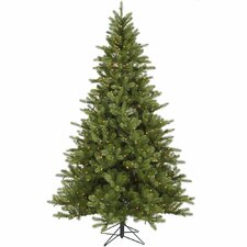 King 9' Green Spruce Artificial Christmas Tree with 850 Dura-Lit Clear Lights with Stand