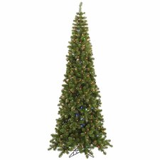 7.5' Green Artificial Christmas Tree with 400 LED Multi-color Lights