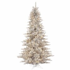 6.5' Silver Fir Artificial Christmas Tree with 600 Mini Clear Lights
