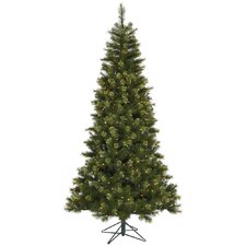 Jack 7.5' Green Pine Artificial Christmas Tree with 450 Dura-Lit Clear Lights with Stand