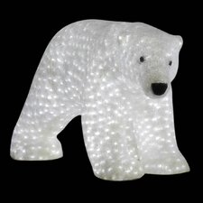 Female Polar Bears LED Sculpture