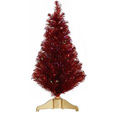 <strong>Vickerman Co.</strong> 3' Red Artificial Christmas Tree