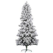 <strong>Vickerman Co.</strong> 7' White Pine Artificial Christmas Tree with Flocked with Stand