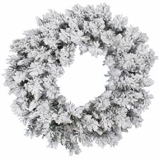 Flocked Snow Ridge Wreath with 160 Tips