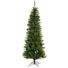 Salem Pencil Pine 8.5' Green Artificial Christmas Tree with 450 Clear Lights with Stand