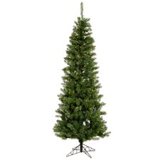 Salem Pencil Pine 9.5' Green Artificial Christmas Tree with 600 Clear Lights with Stand