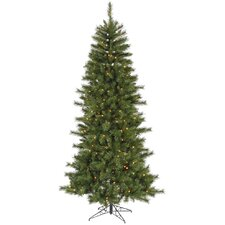 7' Green Newport Mix Pine Artificial Christmas Tree with 350 Multicolored Mini Lights with Stand