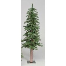 Alpine Tree 5' Green Pine Artificial Christmas Tree with Stand