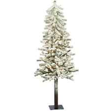 <strong>Vickerman Co.</strong> Flocked Alpine 4' White Artificial Christmas Tree with 100 Clear Lights