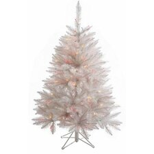 Crystal White Spruce 4.5' Spruce Artificial Christmas Tree with 165 LED Multicolored Lights with Stand