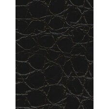 "Rainforest 45-7/8"" x 7-5/8"" Recycled Leather Plank in Jumbo Croc Bourbon"