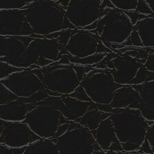 "Rainforest 15-1/4"" x 15-1/4"" Recycled Leather Tile in Jumbo Croc Bourbon"