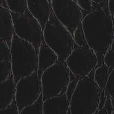"Rainforest 15-1/4"" x 15-1/4"" Recycled Leather Tile in Jumbo Croc Merlot"