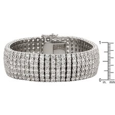 <strong>Kate Bissett</strong> Tennis Bracelet with Round Cut Clear Cubic Zirconia