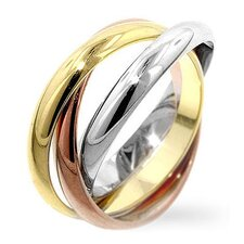 <strong>Kate Bissett</strong> Tri-Toned Trinity Ring