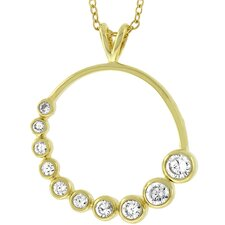 Cubic Zirconia Journey Circle Necklace