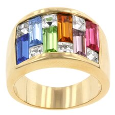 Multi-Color Cubic Zirconia Spring Bazaar Ring