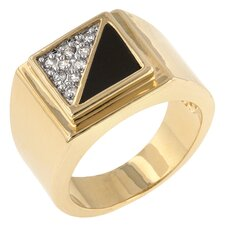 <strong>Kate Bissett</strong> Gemini Cubic Zirconia Men's Ring