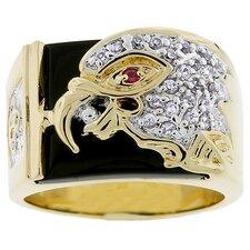 Men's Gold-Tone Eagle Design Ring