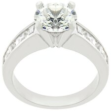 White Gold Cubic Zirconia Anniversary Ring