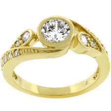 <strong>Kate Bissett</strong> Gold-Tone 'Eye Of The Beholder' Cubic Zirconia Ring