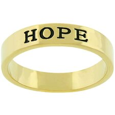 "<strong>Kate Bissett</strong> Gold-Tone ""Hope"" Ring"