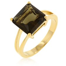 Smokey Topaz Solitaire Ring