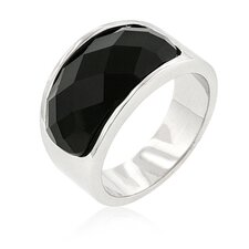 Imitation Onyx Surprise Cocktail Ring