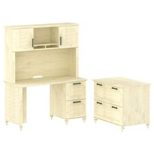 Volcano Dusk Small 2 Drawer Standard Desk Office Suite